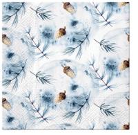 Napkins 33x33 cm - Winter Acorns