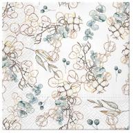 Serviettes 33x33 cm - Winter Leaves