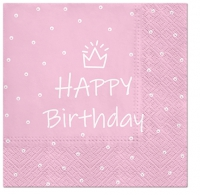 Napkins 33x33 cm - Special Day (light pink)