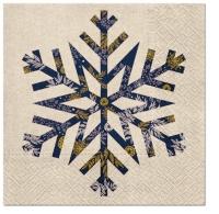 Serviettes 33x33 cm - Big Snowflake