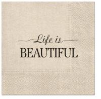Napkins 33x33 cm - We Care Beautiful Life