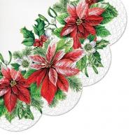 Serwetki - okrągłe - Glory Poinsettia