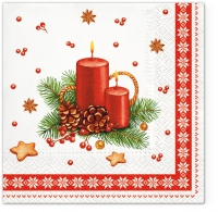Serviettes 33x33 cm - Candle with Frame