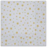 Servietten 33x33 cm - Starlets silver