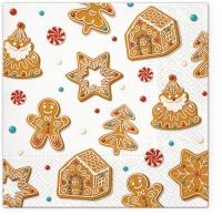 Serwetki 33x33 cm - Christmas Gingerbreads