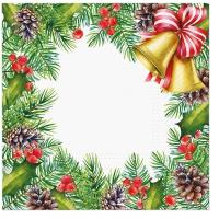 Serviettes 33x33 cm - Glory Christmas Frame