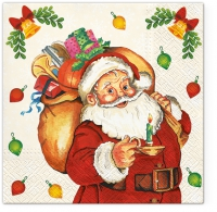 Napkins 33x33 cm - Santa Claus with Gifts