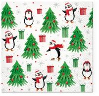 Servilletas 33x33 cm - Christmas Penguins