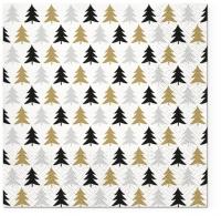 Servilletas 33x33 cm - Just Trees gold