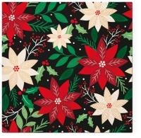 Servilletas 33x33 cm - Poinsettia Pattern
