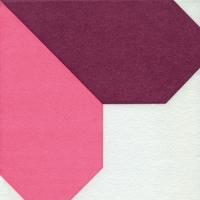 serwetki   Airlaid Dinner Napkins - Origami Serviette Heart orchid/rosé