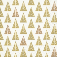 Napkins 33x33 cm - Pointed trees gold