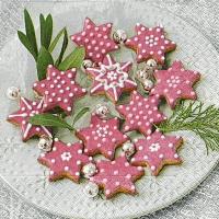 Napkins 33x33 cm - Pink cookies