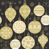 Napkins 33x33 cm - Baubles with pattern