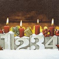 Napkins 33x33 cm - Four candles