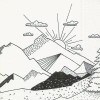 Napkins 33x33 cm - Graphical landscape