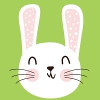 Napkins 24x24 cm - Cute Bunny