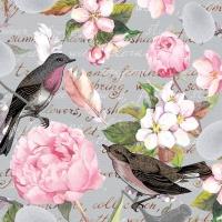 Serviettes 33x33 cm - Birds of a feather
