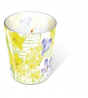 glass candle - Spring mantra