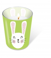 glass candle - Cute Bunny