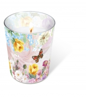 glass candle - Butterfly charm