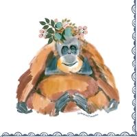 Serviettes 33x33 cm - Orangutan