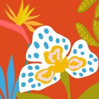 Napkins 33x33 cm - Orchid