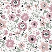 Serviettes 33x33 cm - Modern Floral