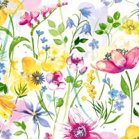 Servietten 24x24 cm - Flower meadow