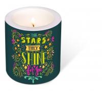 decorative candle - Decorated Candle Starshine