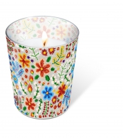 glass candle - Embroidery