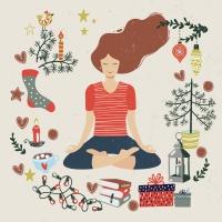 Napkins 33x33 cm - Peaceful Yoga