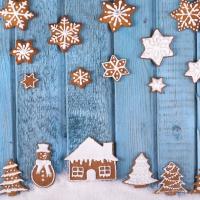 Serviettes 33x33 cm - Gingerbread Houses
