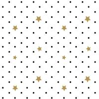 Serviettes 33x33 cm - Black Stars