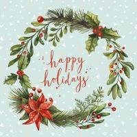 Servietten 33x33 cm - Happy Wreath