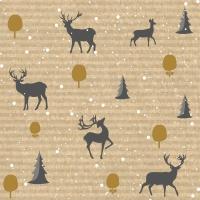Napkins 33x33 cm - Deer Forest