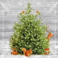Napkins 33x33 cm - A special tree