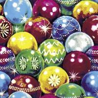 Napkins 33x33 cm - Retro Balls