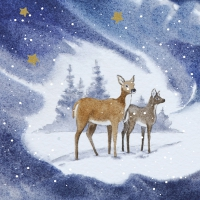 Napkins 33x33 cm - Blue Deers