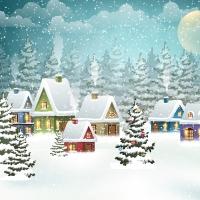 Napkins 33x33 cm - Village in Snow