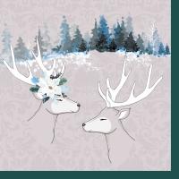 Napkins 33x33 cm - Deer love