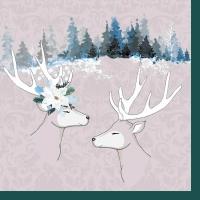 Napkins 24x24 cm - Deer Love