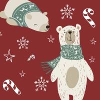 Napkins 33x33 cm - Two Polar Bears
