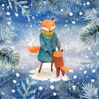 Serviettes 33x33 cm - Dancing Foxes