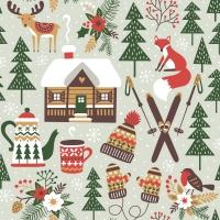 Serviettes 24x24 cm - Winter Cabin