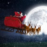Servilletas 33x33 cm - Flying Santa