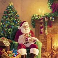 Servilletas 24x24 cm - Santa at Home