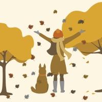 Servilletas 33x33 cm - Garden Autumn