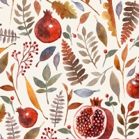 Serviettes 33x33 cm - Pomegranate