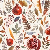 Serviettes 24x24 cm - Pomegranate